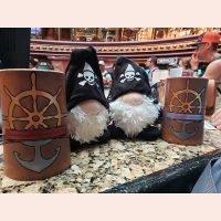 Piratey Flagons by D&U Leather Mugs
